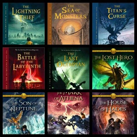 percy jackson book pictures all the pjo and hoo books of books