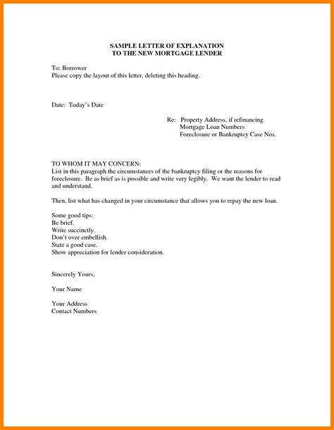 Explanation Letter For Wrong Entry 3 foreclosure letter format rn cover letter