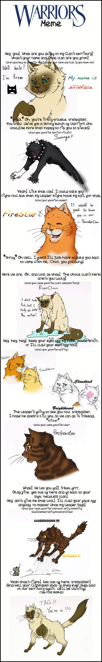 Warrior Cats Meme - warrior cats meme by cycat on deviantart