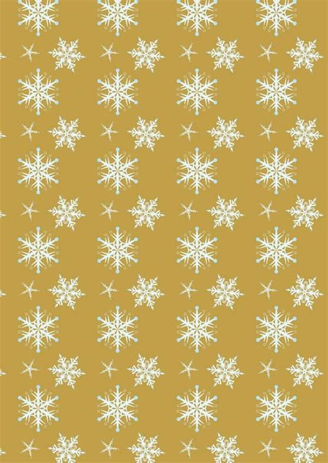 Printable Gold Snowflakes | snowflakes on gold background printable scrapbook paper