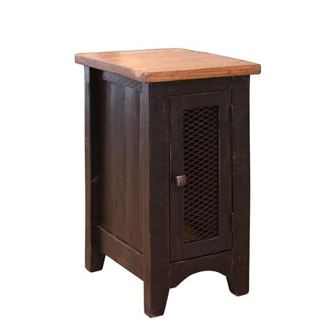 Side Table With Door by International Furniture Direct Pueblo Ifd370cst Rustic