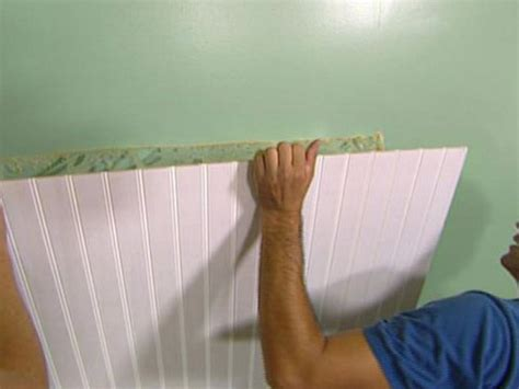 Putting Wainscoting On Walls How To Install Beadboard Wainscoting How Tos Diy