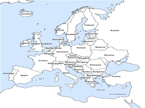 map of europe map of europe map of europe labeled grahamdennis me