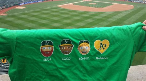Oakland Athletics Giveaways - april 25 2015 oakland athletics vs houston astros a moji t shirt