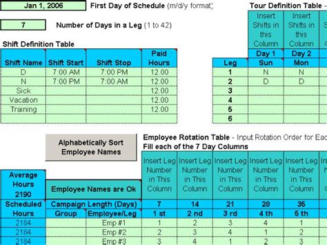 rotating weekend schedule template schedule rotating shifts for your employees rotating or