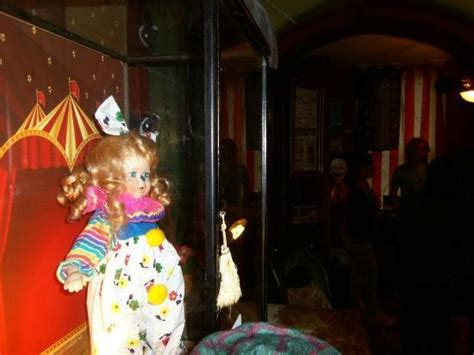 haunted doll on display the haunted clown doll on display picture of