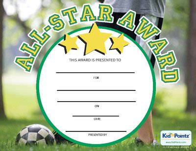 printable all star certificates 8 best images of printable all star certificates star