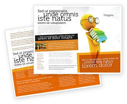 Book Brochure Template with a stack of book brochure template design and