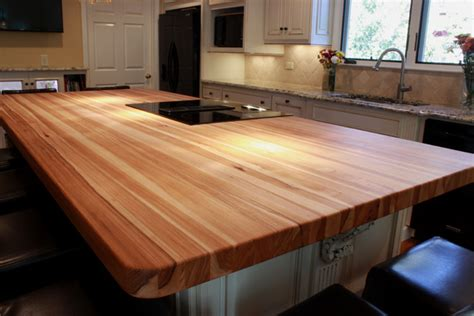 Hickory Wood Countertops by Hickory Countertops J Aaron