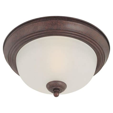 Thomas Lighting 2 Light Colonial Bronze Ceiling Flushmount Colonial Ceiling Lights