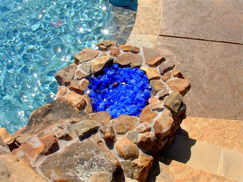 pit glass rocks fireplace design ideas
