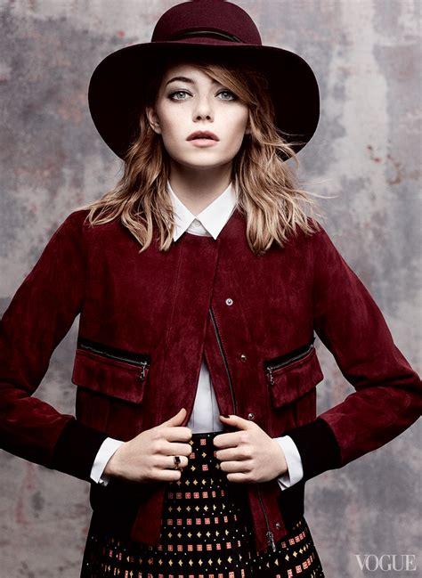 Emma Stone Vogue   emma stone funny fashionable 4 new films vogue