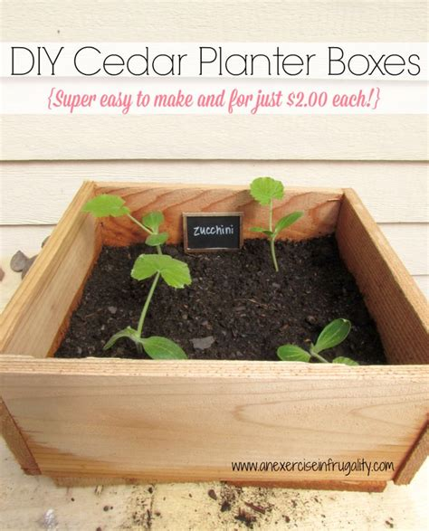 Make Your Own Cedar Planter Box Woodworking Projects Plans Build Your Own Planter Box