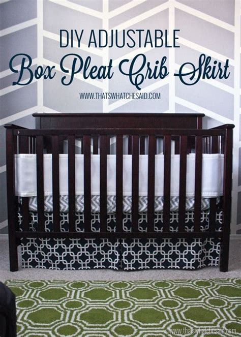 Pleated Crib Skirt Tutorial by Easiest Adjustable Box Pleat Crib Skirt Tutorial A Well
