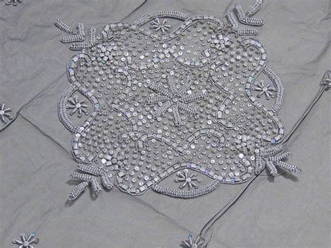Luxury Floral Beaded Tablecloth India Handcrafted