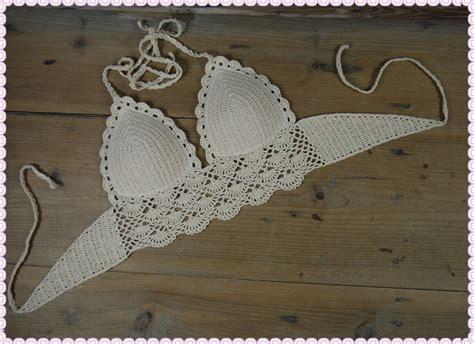 Handmade Top - classical crochet swimwear handmade crocheted