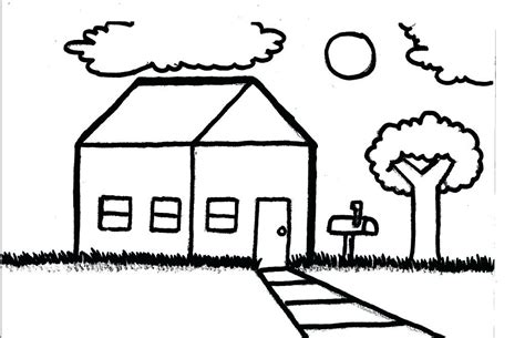 simple house drawing  kids    clipartmag