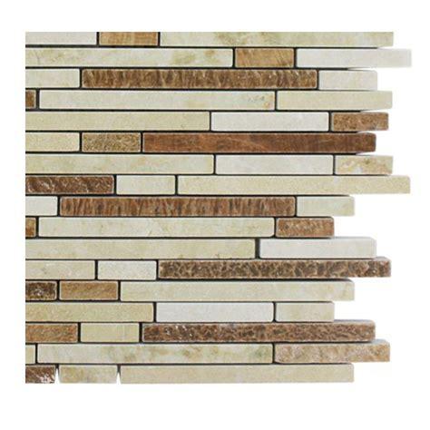 random pattern mosaic tile splashback tile windsor 1 4 in x random galil blend