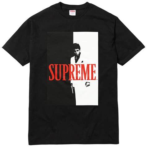 supreme t shirt supreme scarface split black