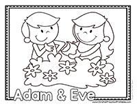 preschool coloring page adam and eve adam eve preschool printables