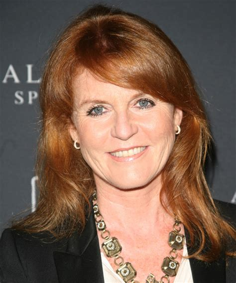 Sarah Ferguson Long Straight Casual Hairstyle with Side