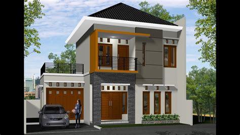 desain rumah  lantai  kamar lahan  meter biaya  juta youtube