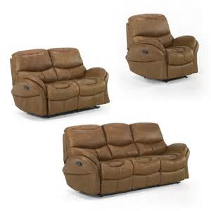 Reclining Loveseat And Sofa Sets Idaho Reclining Sofa Set Whiskey Sofa Sets