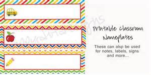 printable rainbow school desk name plates name cards for