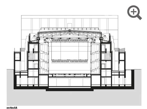 theater section shakespeare theatre gdańsk poland by renato rizzi