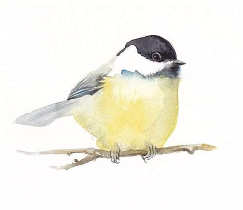 chickadee bird painting fine art print from original