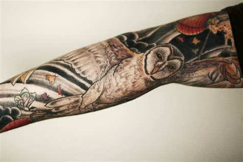 oriental owl tattoo chinese flying owl tattoo sleeve best tattoo ideas gallery