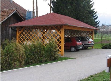 Open Trellis Cheap Wooden Carport W Open Trellis Sides Outdoor Room