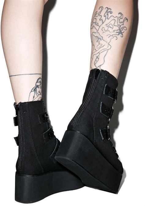 demonia platform boots demonia ridley platform boots dolls kill