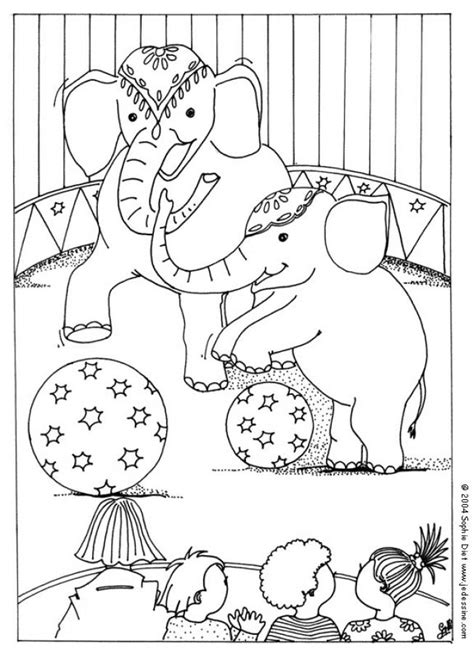 circus elephants coloring pages hellokids com