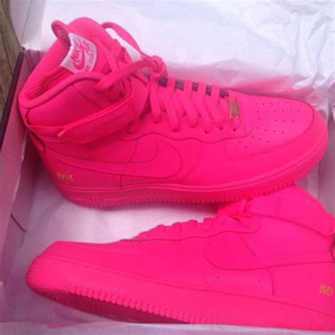 shoes pink nike air one neon pink nike air