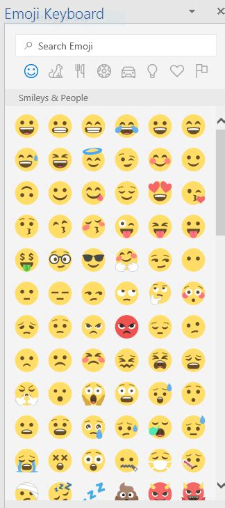printable facebook emoticons list how to add a full set of free emojis to microsoft word