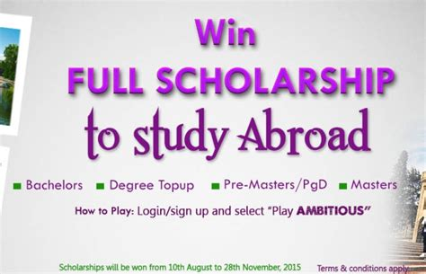 Scholarships For Mba Abroad by Study Abroad Scholarships For Students In Nigeria Ies
