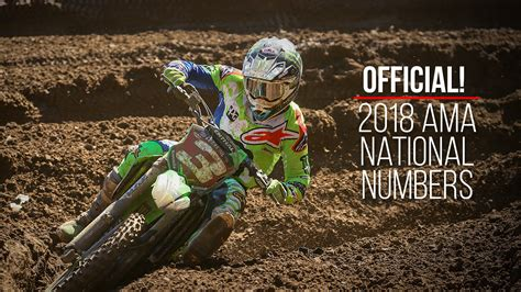 ama national motocross 2018 ama motocross supercross national rider numbers