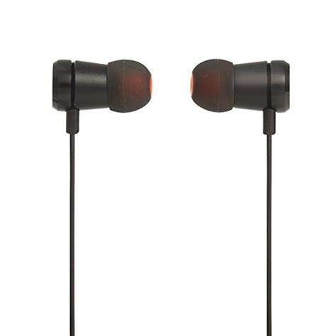Jbl T110 In Ear Headphones With Microphone Flat Cable Black jbl t290 premium in ear headphones with mic flat cord with universal remote bass