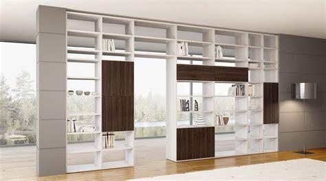 libreria divisoria libreria bifacciale componibile systema b sololibrerie