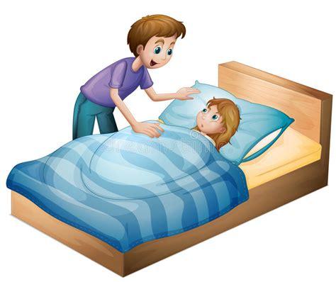 futon schlafen a boy and sleeping stock illustration illustration