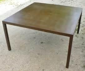 table repas carr 233 ou mange debout en m 233 tal patin 233 style loft
