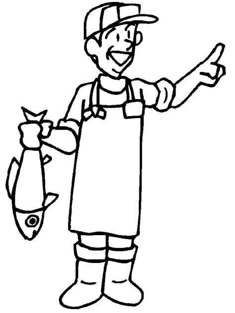 Fisherman Coloring Pages free coloring pages of fisherman