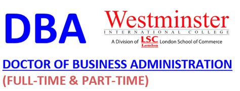 Part Time Mba Scholarship Malaysia by Doctor Of Business Administration Westminster