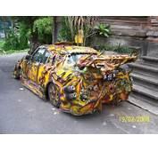 STRANGE CUSTOM CAR  WEIRD PAINT JOB 1