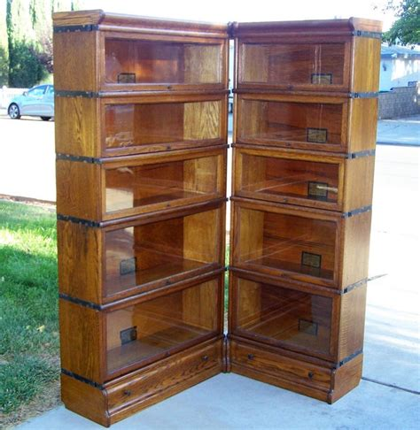 Bookcase Corner Unit 25 Quot 3 4 Size Globe Wernicke Bookcase Corner Unit Antique Lawyer Barrister Bookcases For Sale
