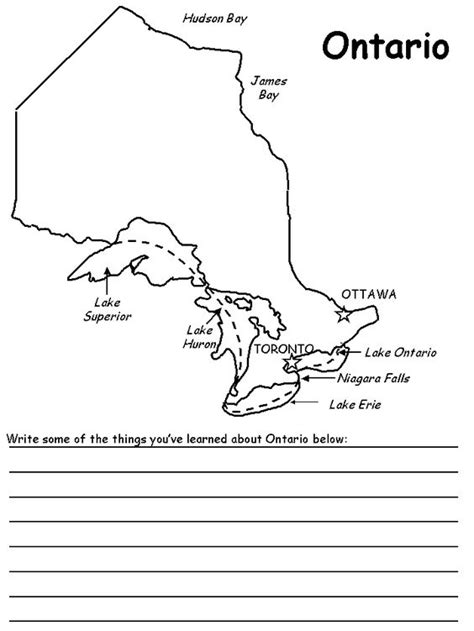 coloring pages geography printable ontario map coloring page geography homeschool