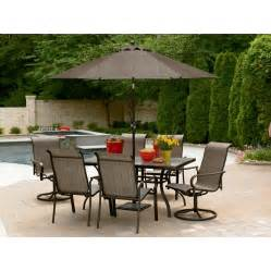 Patio Dining Sets Clearance 7 Pc Outdoor Dining Set 231 99 Mybargainbuddy