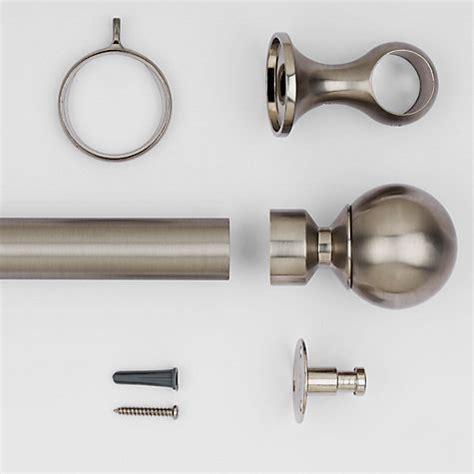 curtain poles brushed steel buy john lewis brushed steel curtain pole kit dia 25mm