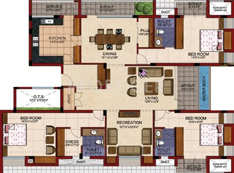 3000 sq ft apartment floor plan tvh battika in alwarpet chennai price location map